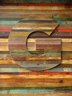 Typeverything.com Timbered lettering on the... - Typeverything #typography