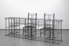 CJWHO ™ (Wire Frame Furniture by NOIZ Architects Say...) #frame #design #interiors #furniture #architecture #wire #art #3d