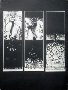 ughpsh:Reinhold Visuals Graphic design educational poster, c.1968 #negative #black #white #painting
