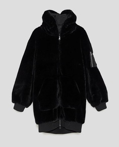 Image 11 of OVERSIZED FAUX FUR COAT from Zara