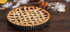 Cranberry and Blueberry Tart | BakingGlory.com #food
