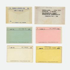 FFFFOUND! | Magnificent Ruin #small #catalog #vintage #type #cards #pastel