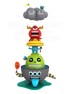 Characters' Totems on Behance #totems #nested
