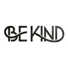 Be kind by Simon Walker - super furry #typeface