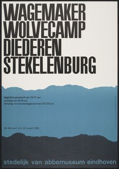 Wim Crouwel: selected graphic designs and prints from museum archive #design #minimal #poster