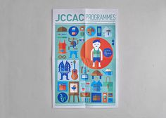 JCCAC Programme July Issue #geometry #graphic #jccac #cover #illustration #poster #morning #paper #good #green