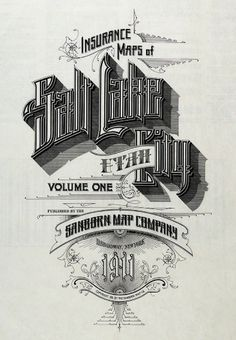 All sizes | Salt Lake City, Utah 1911 | Flickr - Photo Sharing! #design #typeography