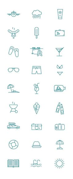 Summer pictogram by Kenneth Knudsen, via Behance #icons #sign #summer #pictogram