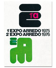 Mimmo Castellano #castellano #expo #typography #mimmo #exhibit #poster #rounded #type #green