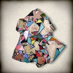 Forms / Stone Paintings on the Behance Network #relief #found #objects #stone #forms #color #geometric #geometrical
