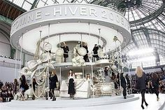 Chanel RTW FW2008 #karl #stage #carousel #design #fall #fw08 #set #chanel #production #show #fashion #lagerfeld #2008 #winter