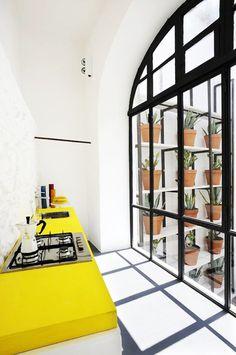 Interior Inspiration: 12 Kitchens with Color Photo #interior #design #yellow #kitchen #decoration