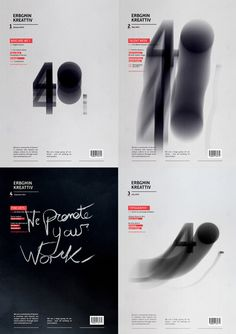 Erbgħin Kreattiv Magazine Covers on Behance #typography #number #cover #book
