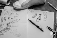 sketch and prototype for the paper sneaker
