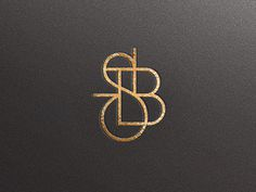 Monogram / Javier Garcia #monogram #lettering #gold and black