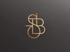 Monogram / Javier Garcia #lettering #black #monogram #gold #and