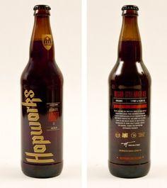 Hopworks Bottles #packaging #beer #label #bottle