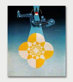 Matthew Leibowitz – General Dynamics, 1965 / Aqua-Velvet #space #1960s #matthew #poster #leibowitz