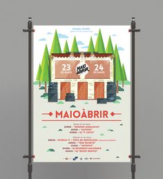maioabrir poster 2014 by heymikel #print #design #graphic #illustration #gigposter #poster #heymikel