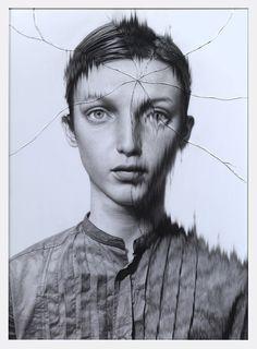 The Cracked Portrait Series by Taisuke Mohri