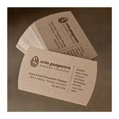 Body & Soul Therapeutic Massage #business #cards #goods #natural #paper