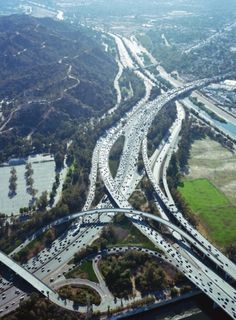 Aufschnitt/ #los #traffic #aerial #angeles