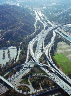 Aufschnitt/ #los #traffic #aerial #angeles