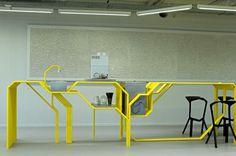 Studio 1:1 Designs Splashes Color Into A New ICT Center | #interior #design