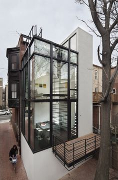 tokyo bleep #glass #white #house #black