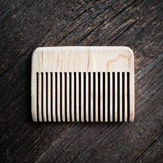Straight Edge Beard Comb