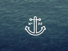 Dribbble - Postcard No. 22 by Victor Mathieux by Keenan Cummings #trendy #anchor #hipster #symbol
