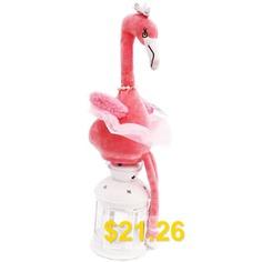 Electric #Glowing #Flamingo #Plush #Doll #Toy #1pc #- #PINK