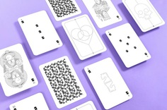 Whimsical Playing Arts | Edition II #design #playingcards #minimal #minimalist #purple