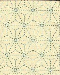 http://www.shiboridragon.com/Sashiko/Fabric/Asanoha-Cream.jpg #sashiko #anasoho #fabric pattern