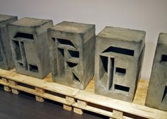 concrete type installation #sculpture #concrete #morning #experimental #perfect #type #good