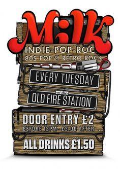 Milk Poster - Jan '12 | Flickr - Photo Sharing! #design #graphic #illustration #poster #club