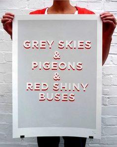 Grey Skies poster « Studio8 Design #type #london #studio8 #poster