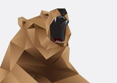 Great Bears | rorymuldoon.com #facets #polar #geometry #illustration #bear