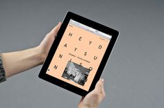 Reformat.no on Behance #ipad