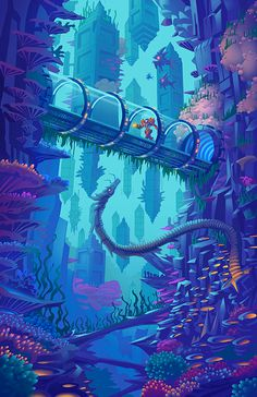 Depths of Maridia by Francoyovich