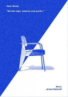 Cosmos Collective - design studio #graphic design #design #poster #chair #cosmos collective #simple project