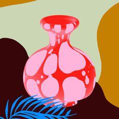 Adonis, Sara Andreasson #andreasson #illustration #vase #sara