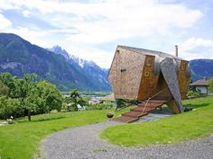 Ufogel Holiday House Floats Above the Meadows in Lienz, Austria