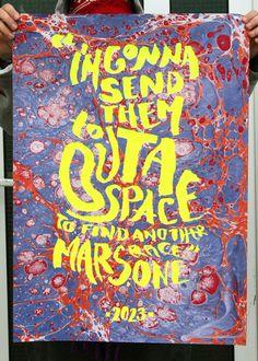 Image of MARS ONE #mars #silkscreen #space