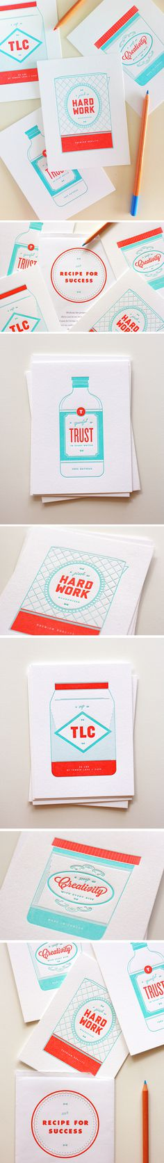 Recipe for Success Series - One Plus One Design #Stationery #Design #Illustration