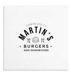 This easy-to-use logo template will add a unique character your brand name. http://83oranges.com/product/burgers-and-sandwiches-logo-templat #branding #retro #food #vintage #logo