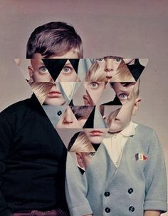 c5efbce42a7c7983b0899a18aaae3bb5_L.jpg (498×640) #design #collage #weird #triangle #children #portraiture #reassemble