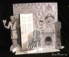 SALE The Raven Paper doll play set by LeLapinTriste on Etsy