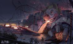 Batman_Arkham_Origins_Concept_Art_GS_Funhouse_MainGate #arkham #joker #batman