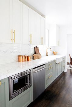 dreamy brass kitchen fixtures / sfgirlbybay #interior design #decoration #decor #deco #kitchen